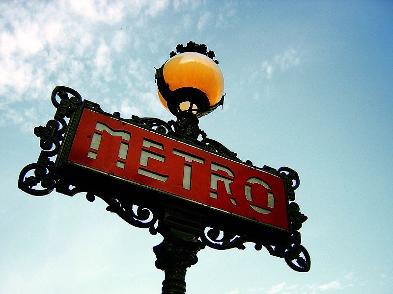 Paris Metro Sign - Framed Images